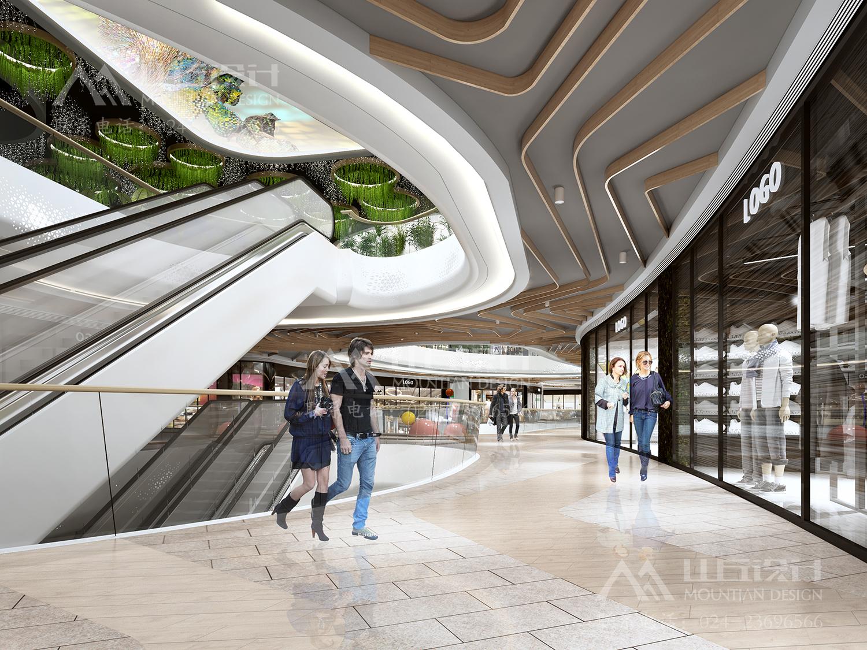 固安商场二层走廊