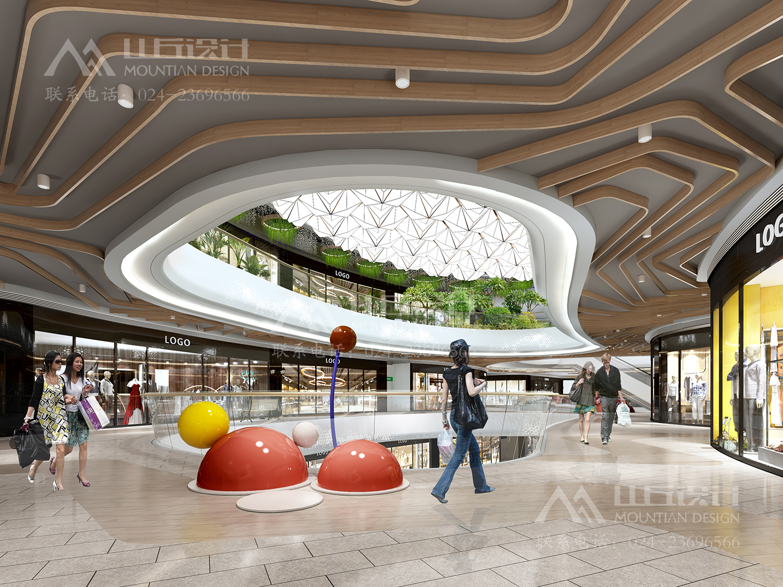 商场二层走廊